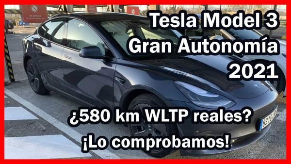 De viaje con el Tesla Model 3 Gran Autonomía 2021