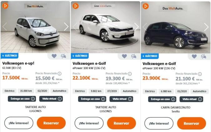 Algunas ofertas VW Ocasión a 24-05-2021