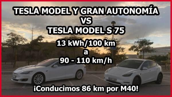 Tesla Model Y Gran Autonomía vs Tesla Model S 75