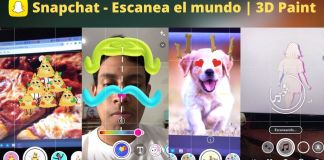 snapchat 3d paint scan world