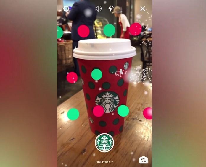 starbucks navidad filtro instagram