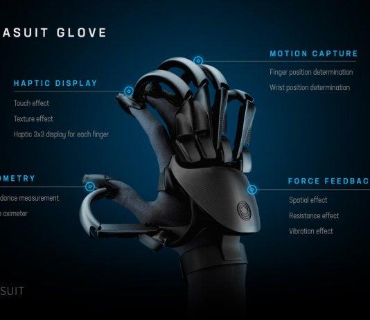 tesla suite glove realidad virtual