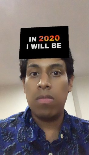 in 2020 I will be instagram filter