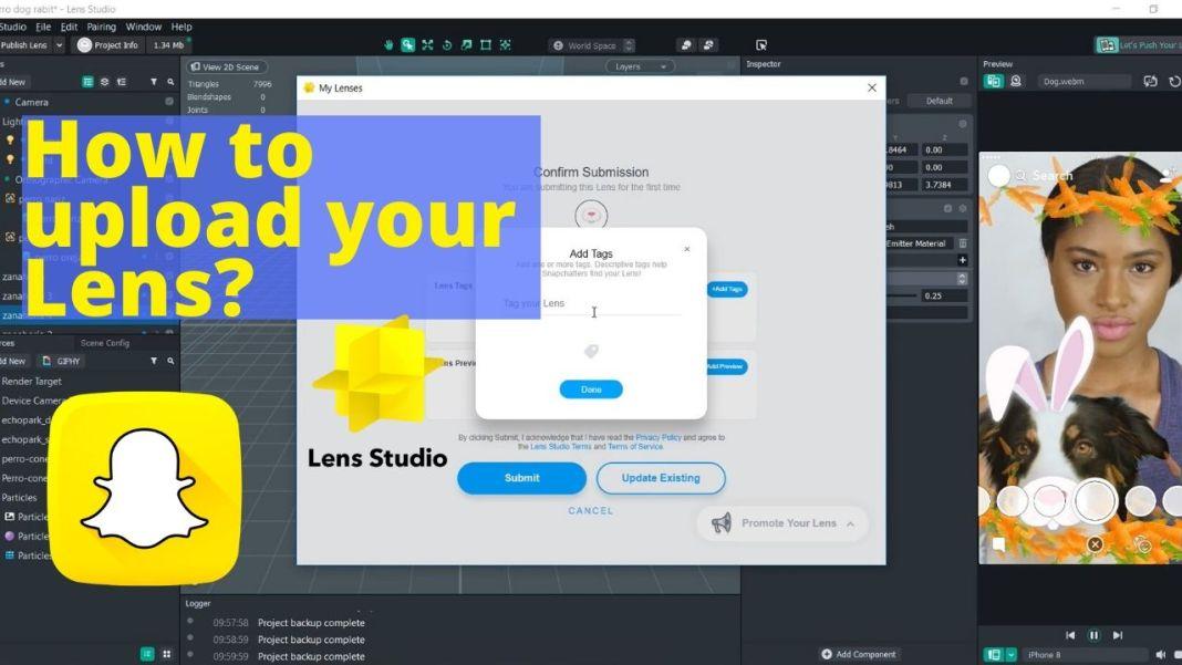 como subir tu filtro snapchat lens studio