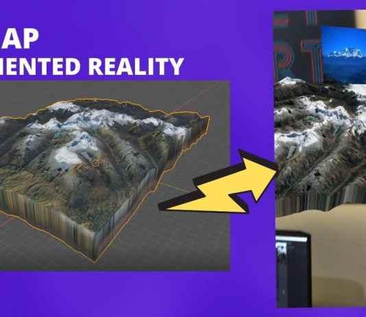 3D map Blender GIS Spark AR