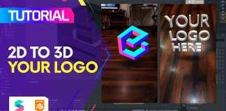 spark ar 2d 3d logo