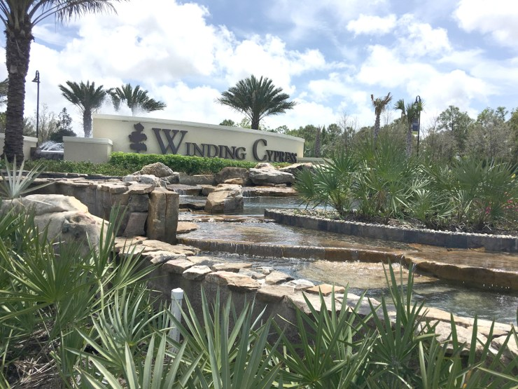 landscape design at Winding Cypress at Naples FL created by Emil Kreye and Son Inc