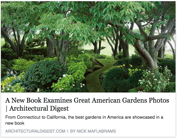 Emil Kreye & Son's garden featured in Architectural Digest's new book