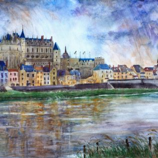 Rain A River Over Amboise, France