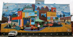Mural in Pittsburgh Strip District