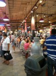 With all the food stalls, they also include wide swaths of seating so people can eat on-premesis
