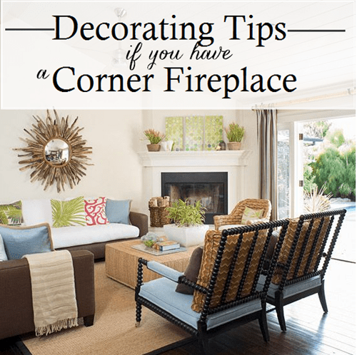 Working With  A Corner Fireplace   Emily A  Clark Corner Fireplace Decorating Tips