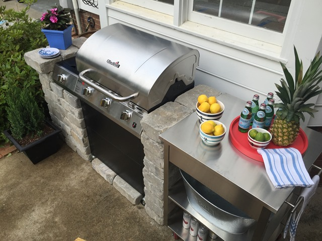 "How To Create a DIY Outdoor ""Kitchen"" - Emily A. Clark on Patio Kitchen Diy  id=39559"