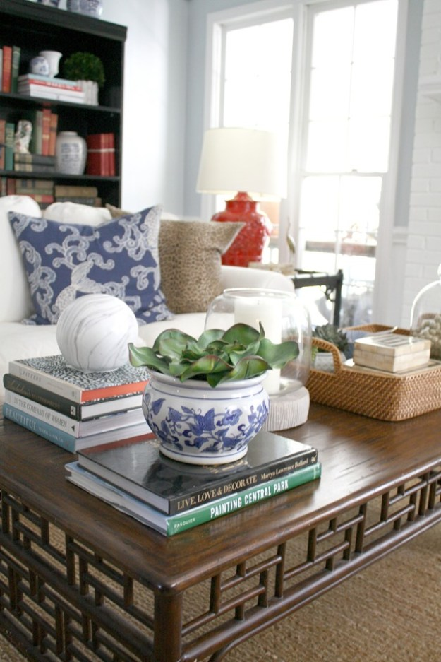 how i style my coffee table {video} - emily a. clark