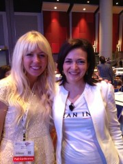 "Here I am with Sheryl Sandberg, COO of Facebook, author of Lean In. My favorite chapter of ""Lean In"" was ""The Myth of Doing It All."