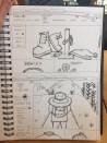 Sketches of my website design