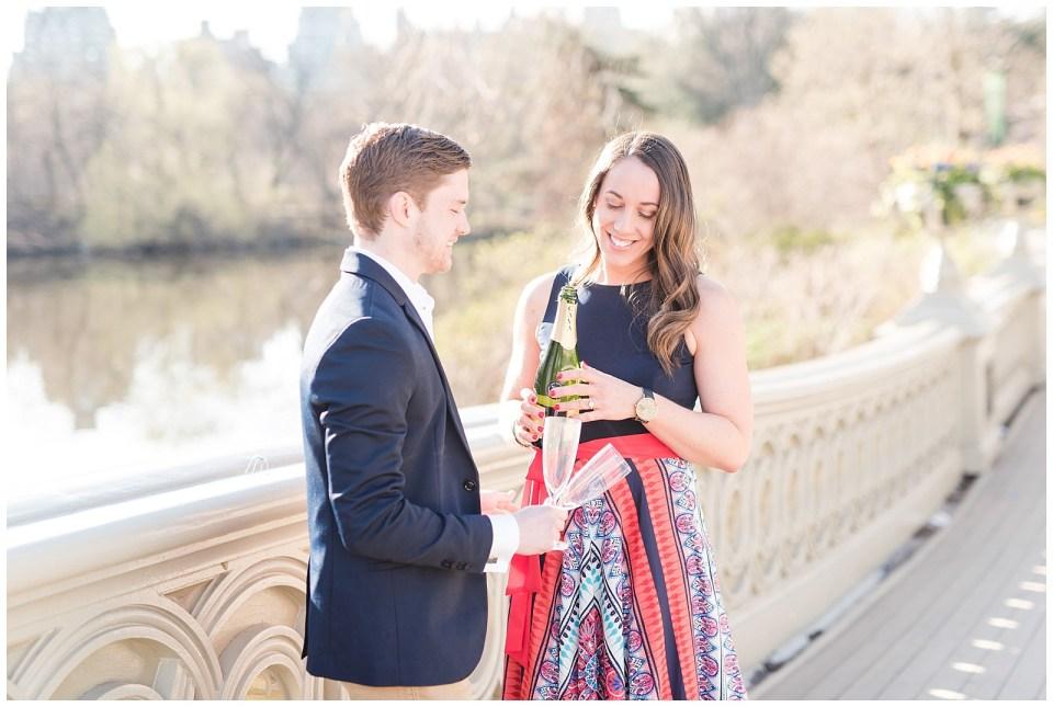new-york-city-champagne-toast-engagement-photo