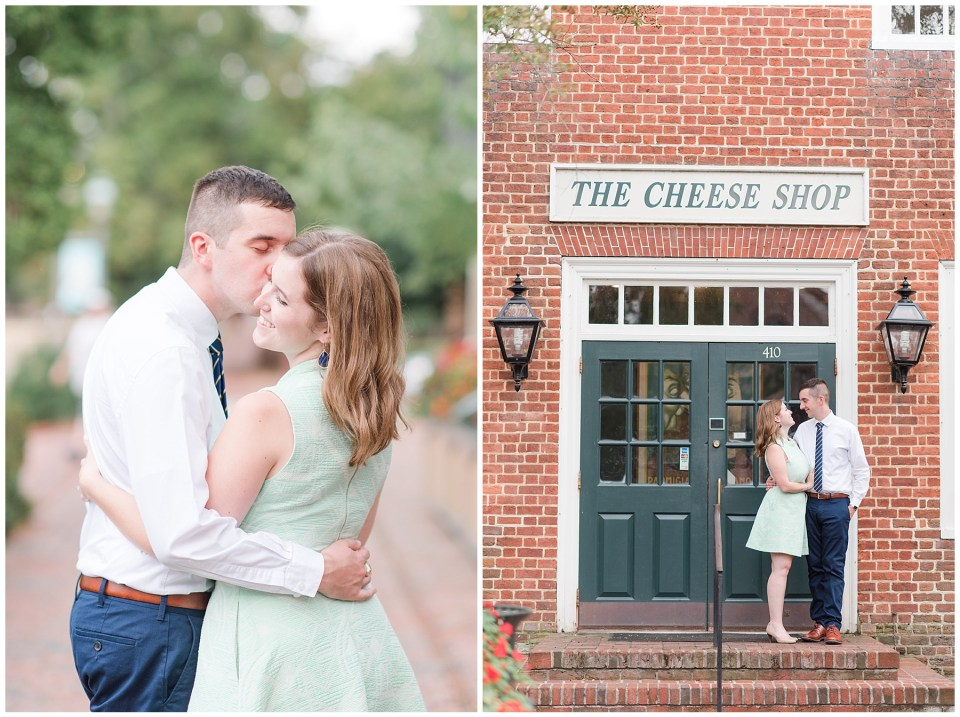 colonial-williamsburg-william-and-mary-cheese-shop-engagement-photo