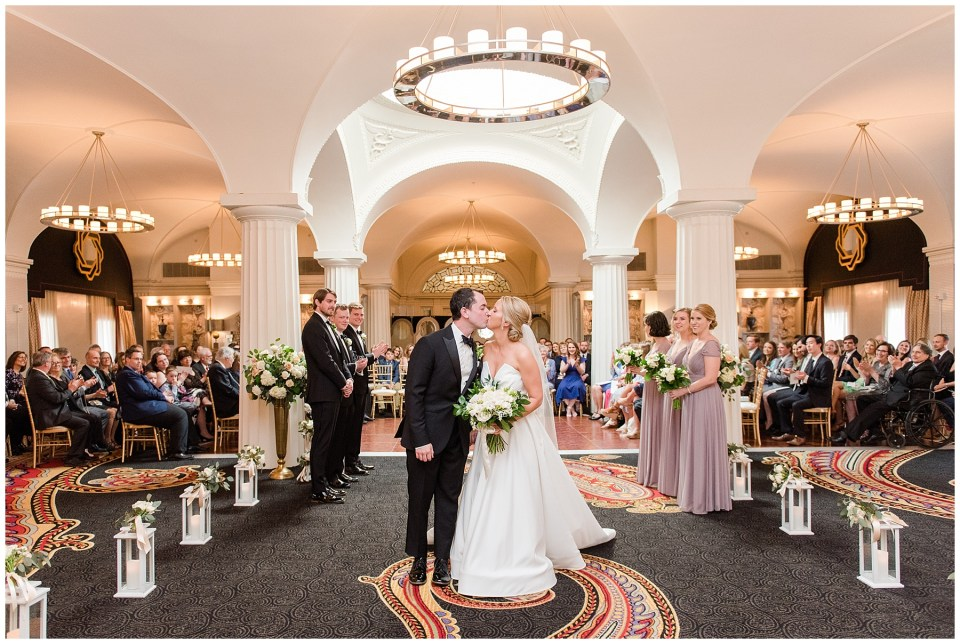 Hotel Monaco DC wedding ceremony with architecture