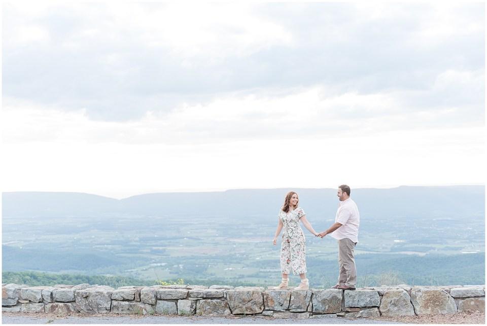 Summer portrait session guide Shenandoah Skyline Drive Engagement Photo