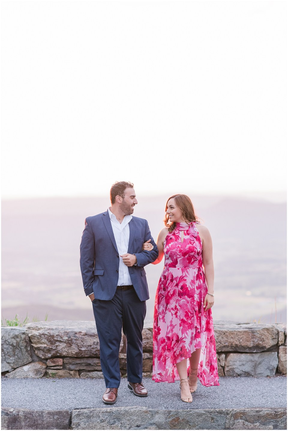 stoney-man-skyline-drive-overlook-engagement-photo