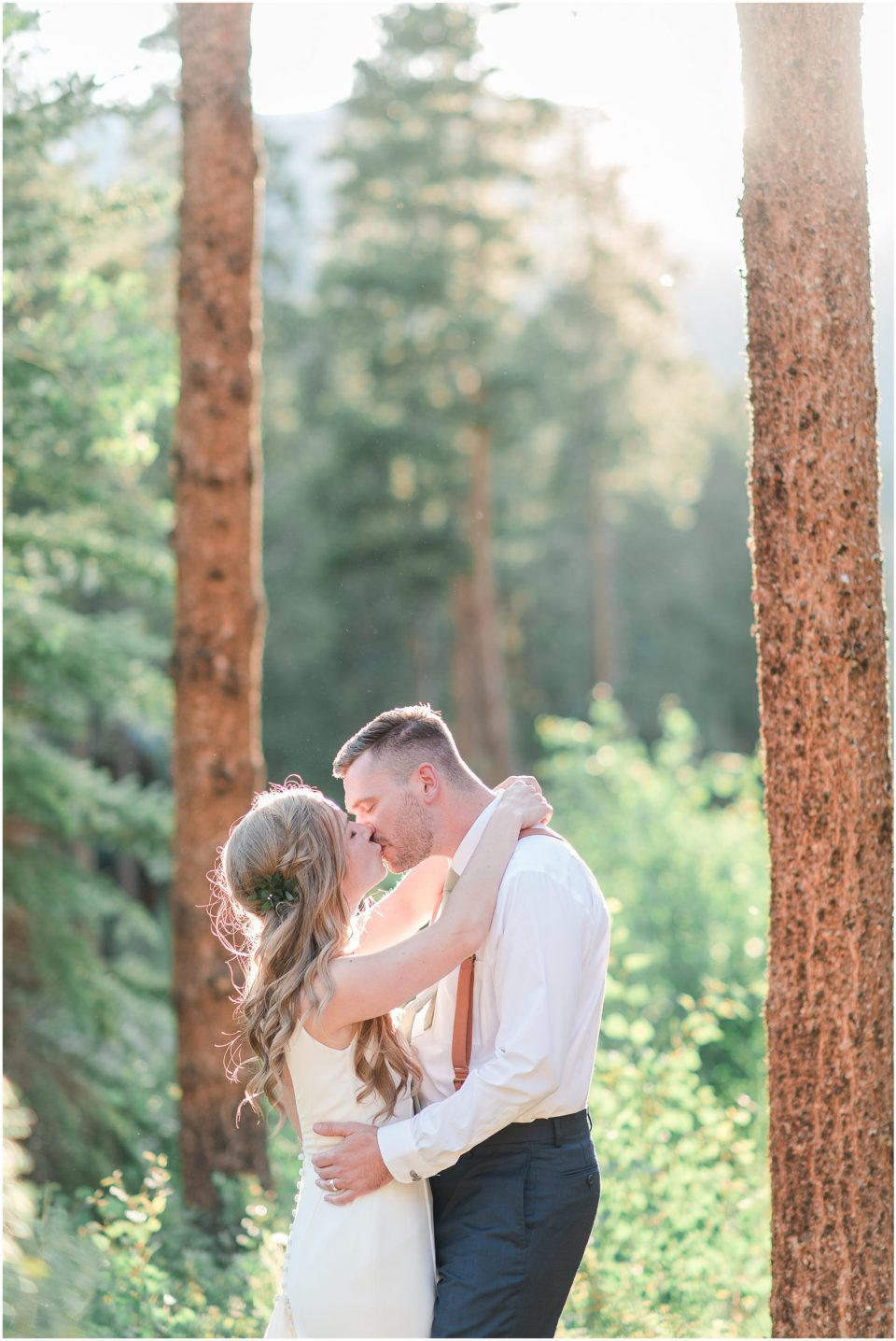 breckenridge colorado golden hour wedding photos