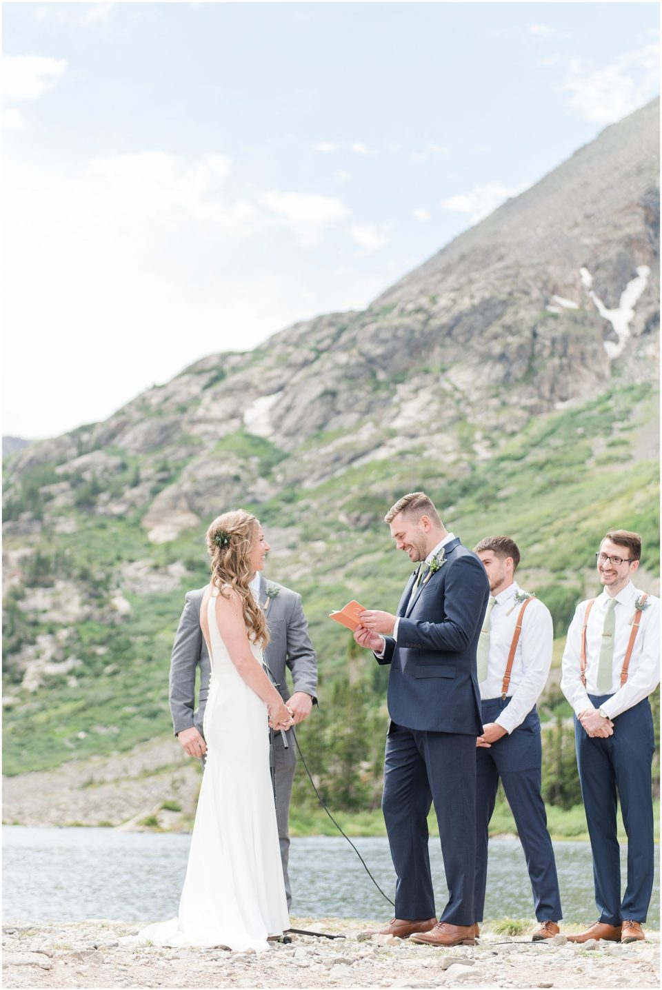 blue lakes trailhead wedding photos