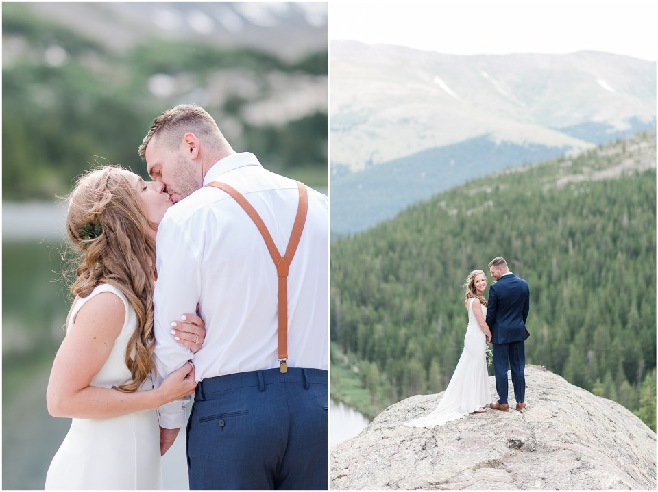 blue lakes trailhead breckenridge wedding photos