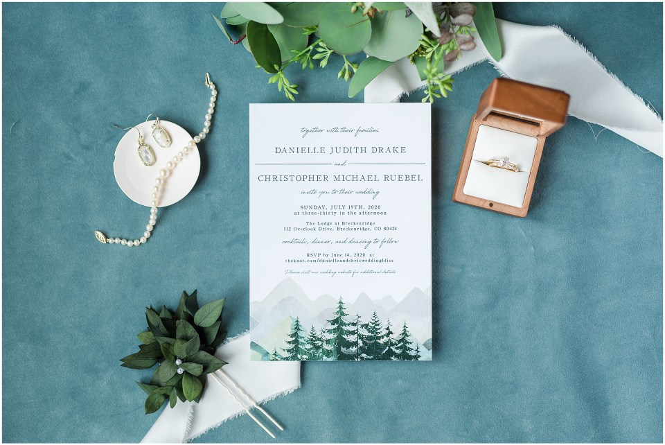 colorado wedding invitation idea photo