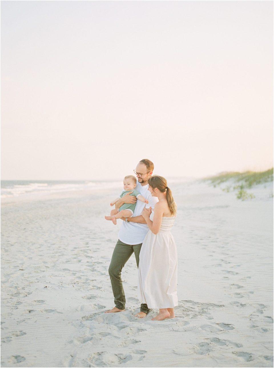 family photos on the beach south carolina photographer