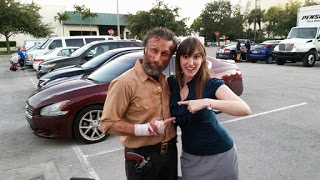 The Walking Dead Rick Grimes Look a Like with Obsidian Series Author Emilyann Girdner