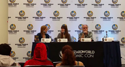 Genese Davis, Emilyann Girdner YA Fantasy Author, and JJ at Comic Con talk Creativity