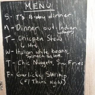 Monday Meal Plan Jan 7