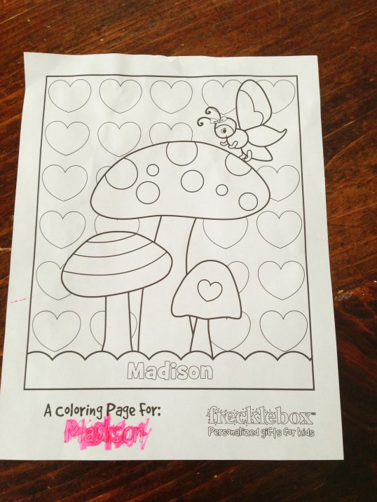 Personalized coloring page