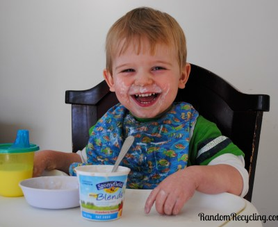 A happy Stonyfield customer