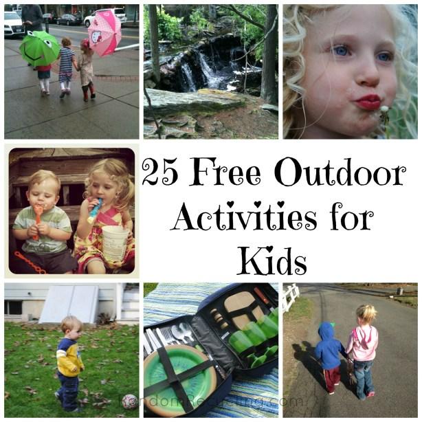Free Outdoor Activities for Kids RandomRecycling.com