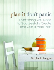 Plan It Don't Panic Menu Planning