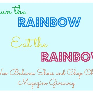 Eat the Rainbow, Run the Rainbow Giveaway