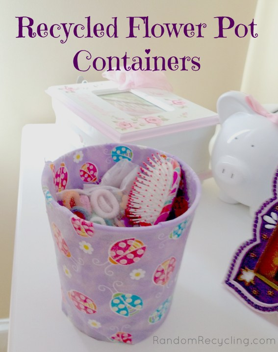 Recycled Flower Pot Container