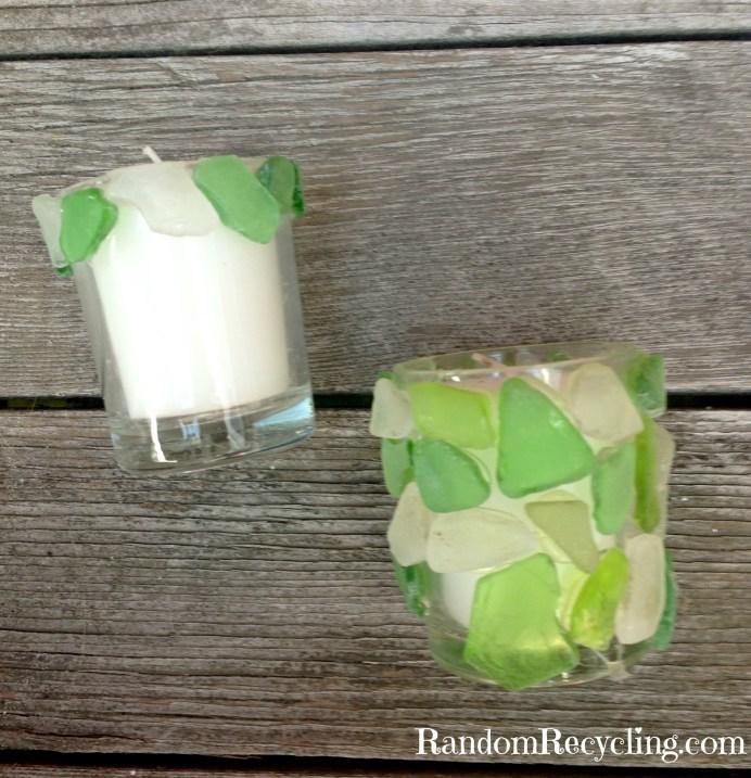 Sea Glass Votives via RandomRecycling