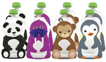 Squooshi reusable squeeze pouch for kids