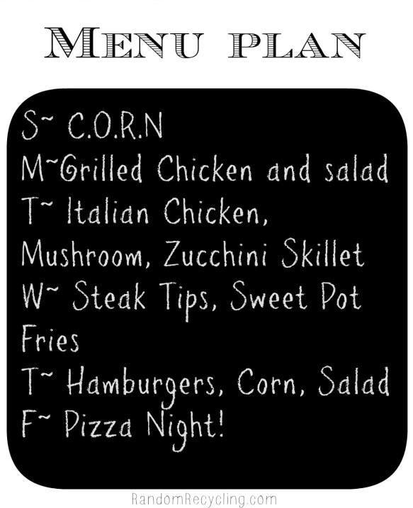 Sept meal plan week 1 via RandomRecycling