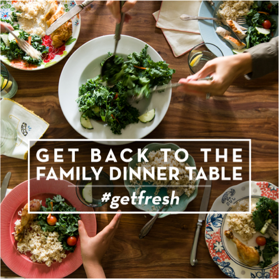 Get back to the family table #getfresh