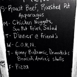 Monday Meal Plan Jan 13