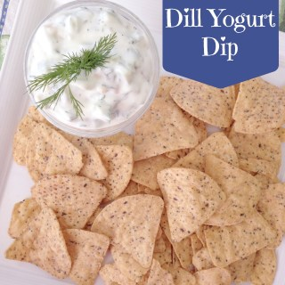 Cucumber Dill Yogurt Dip and a Side of Late July Chips