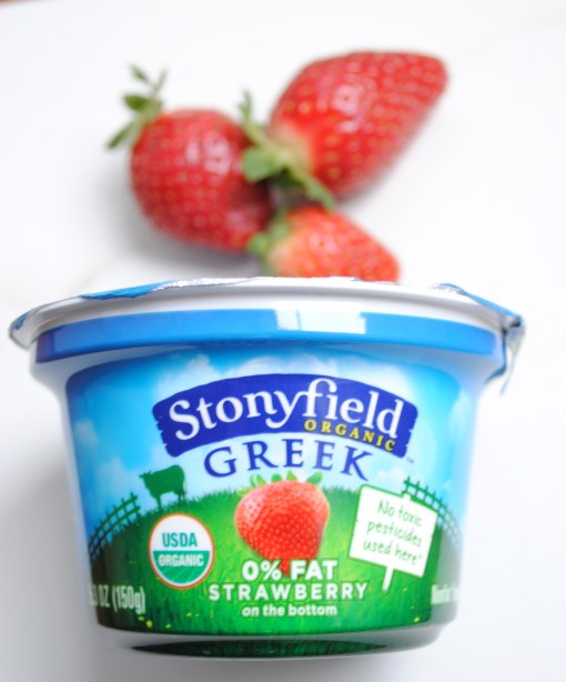 stonyfield greek strawberry yogurt
