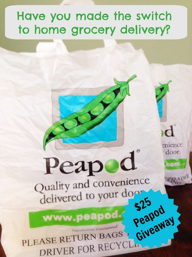 Peapod grocery delivery.