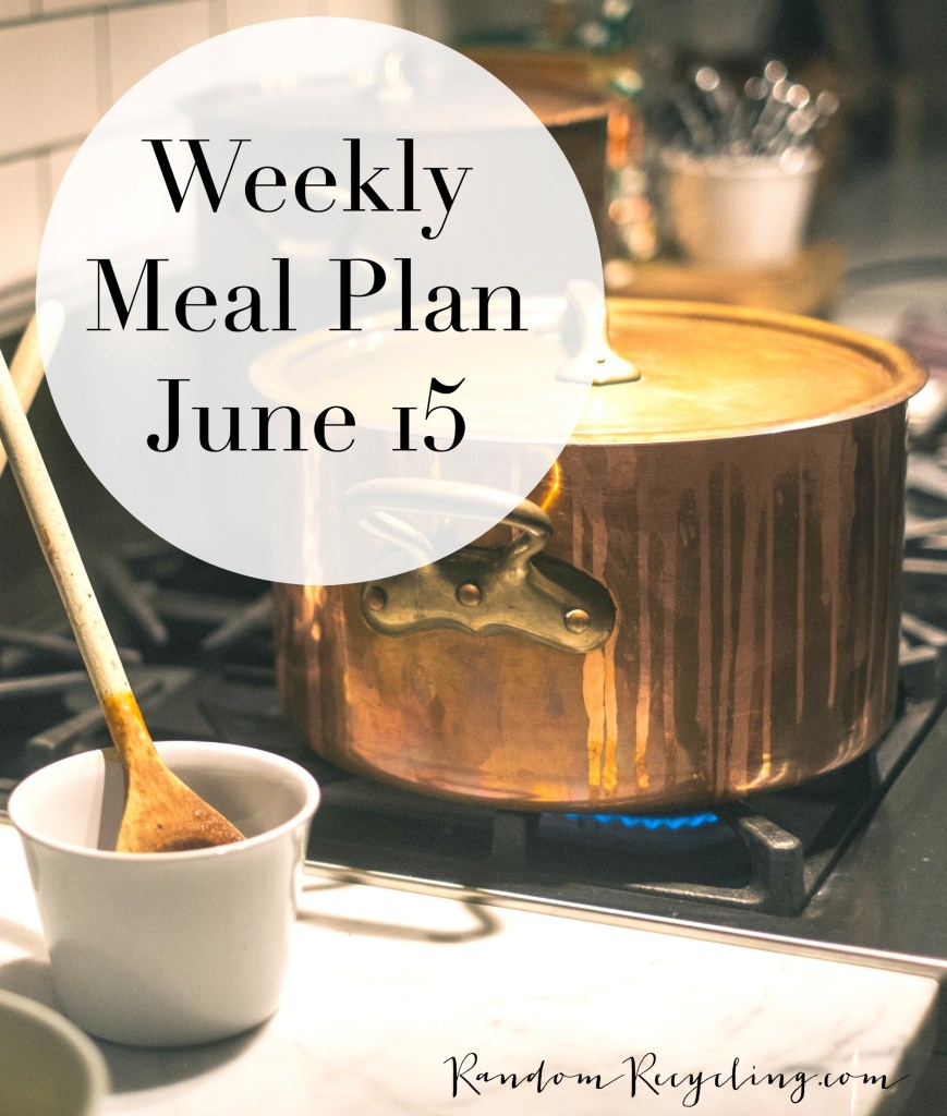 Weekly Meal Plan June
