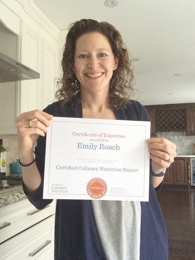 Emily Roach CNE graduate academy of culinary nutrition program