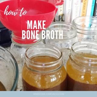 Here's why I drink Bone Broth every morning. (plus my homemade bone broth recipes)